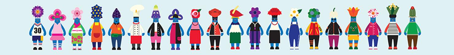 崇光百货(Sogo)30周年标志、吉祥物设计