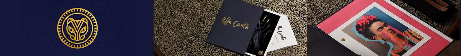 伦敦Ella Canta墨西哥艺术餐厅视觉形象设计